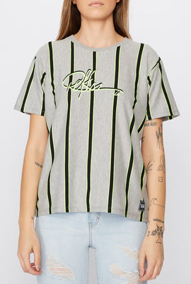 Young & Reckless Womens Neon Striped T-Shirt