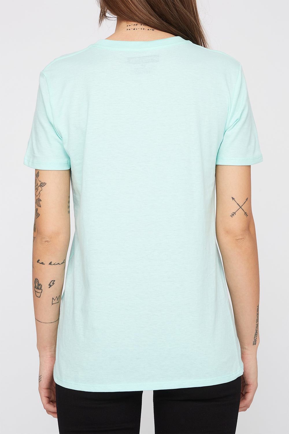 Zoo York Womens Pastel Box Logo T-Shirt Sage