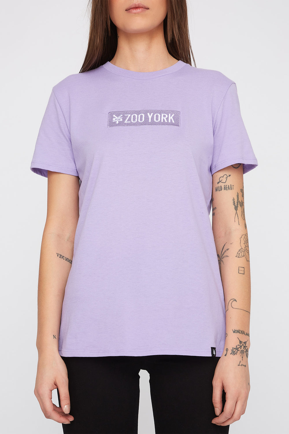 Zoo York Womens Pastel Box Logo T-Shirt Lilac