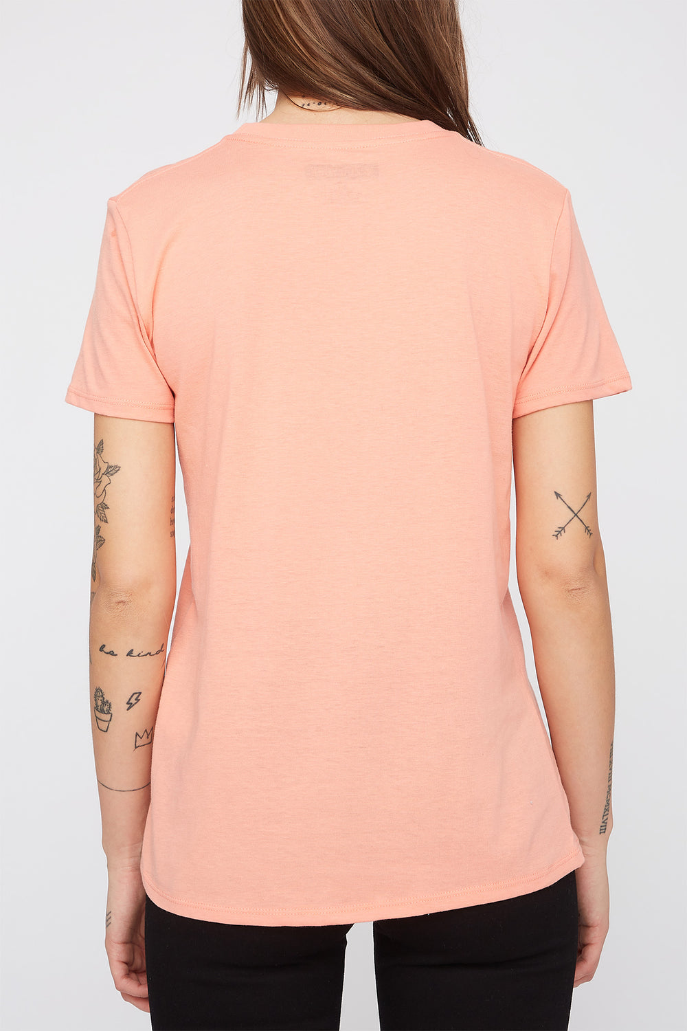 Zoo York Womens Pastel Box Logo T-Shirt Peach