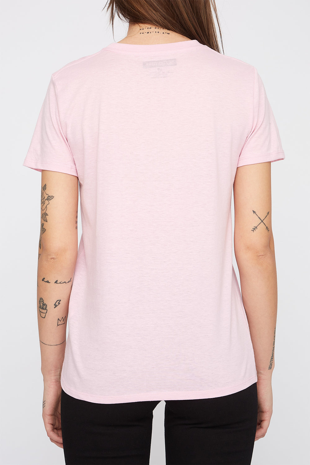 T-Shirt Couleur Pastel Zoo York Femme Rose pale