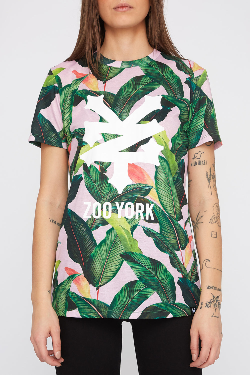Zoo York Womens Tropical Print T-Shirt Multi