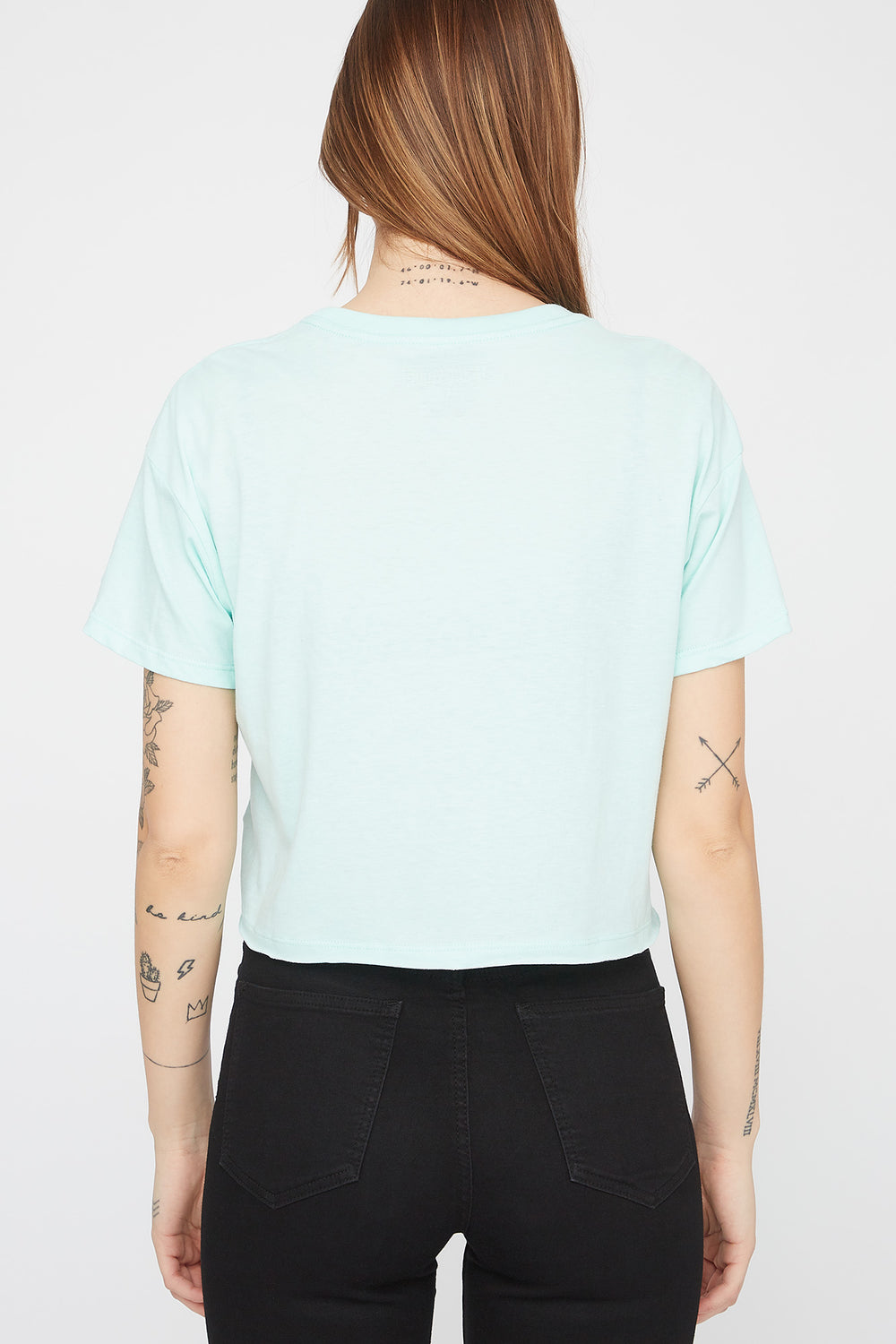 Zoo York Womens Unbreakable Chenille Cropped T-Shirt Sage