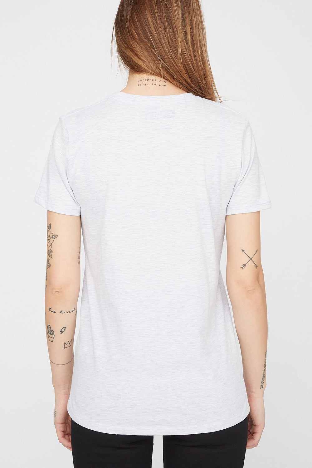 Zoo York Womens Puff Print Gradient Logo T-Shirt Oatmeal