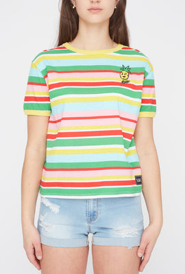 Young & Reckless Womens Striped T-Shirt