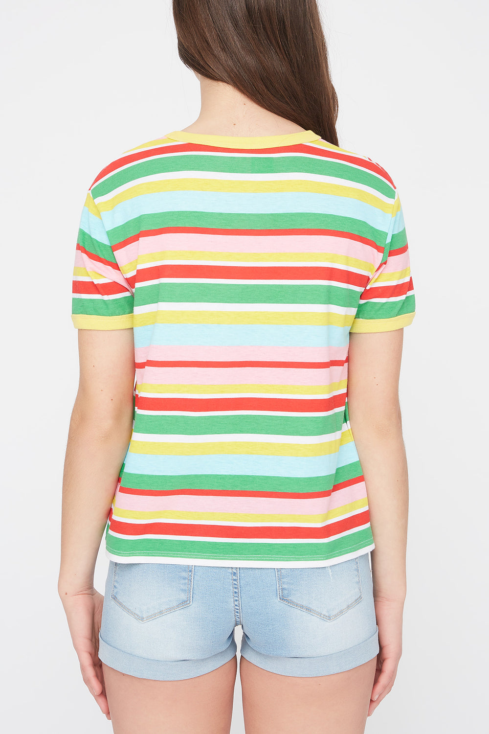 Young & Reckless Womens Striped T-Shirt Multi