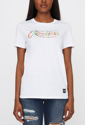 T-Shirt Logo Rayé Young & Reckless Femme