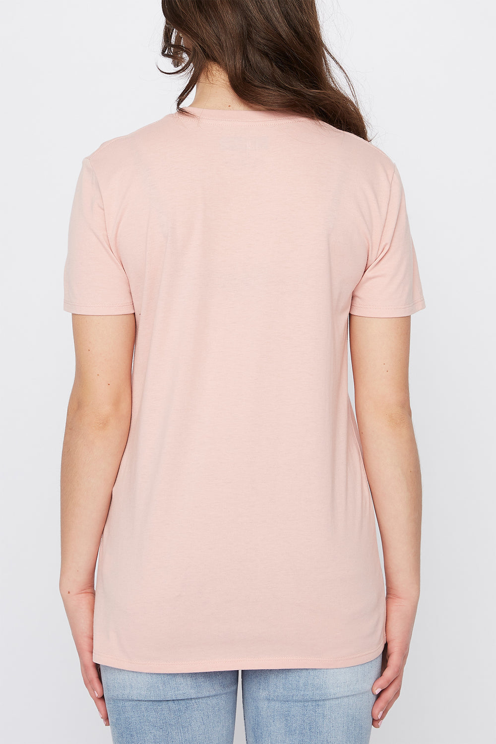 T-Shirt Tournesol Zoo York Femme Rose poudre