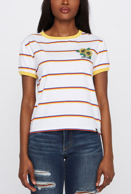 Zoo York Womens Sunflower Striped T-Shirt