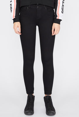 Zoo York Womens Black 3-Tier Curvy Jeans