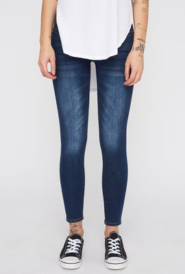 Zoo York Women's High Rise 3 Tier Dark Wash Curvy Jeans