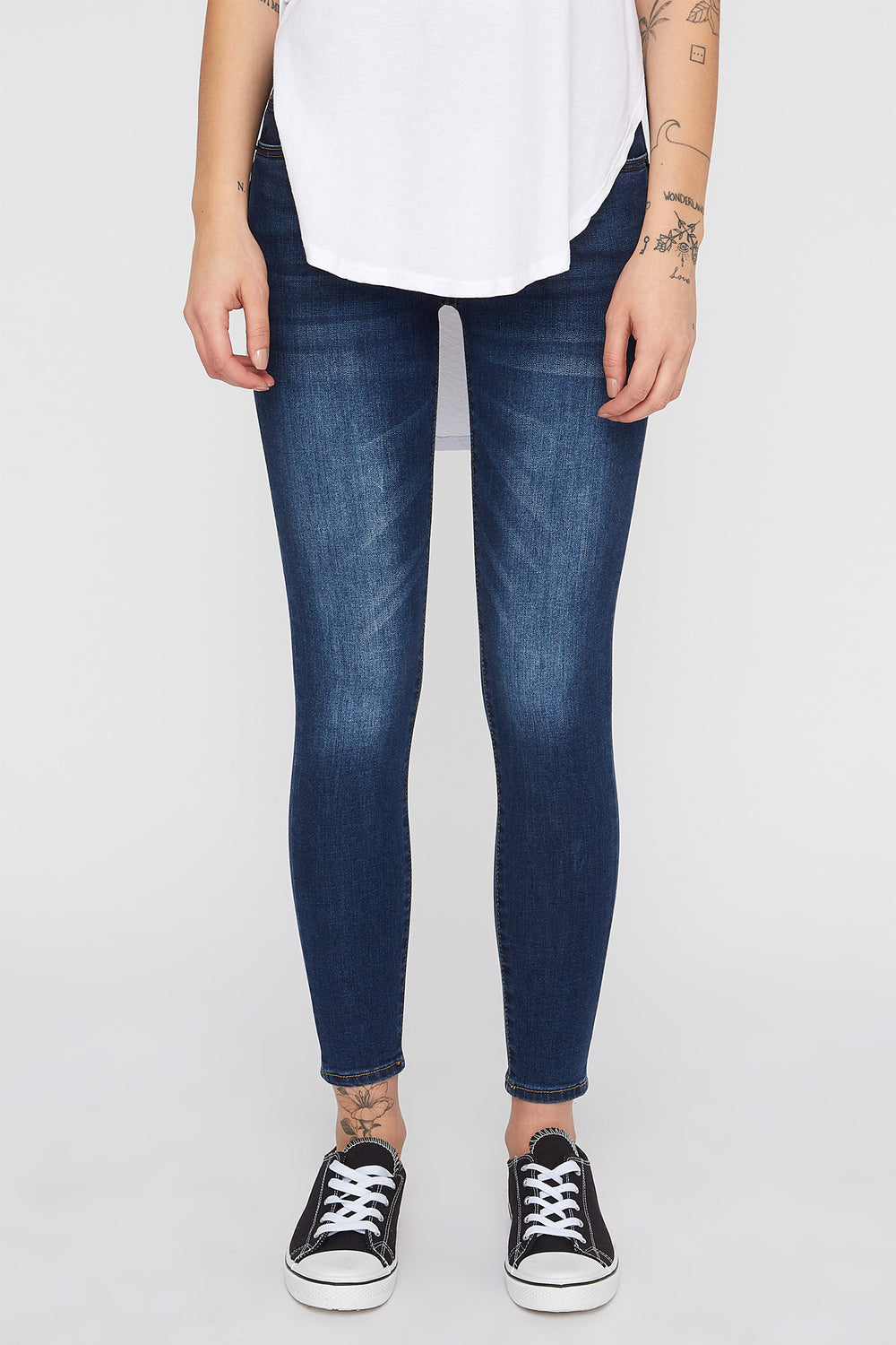 Zoo York Women's high rise 3 tier dark wash curvy jeans Denim Blue