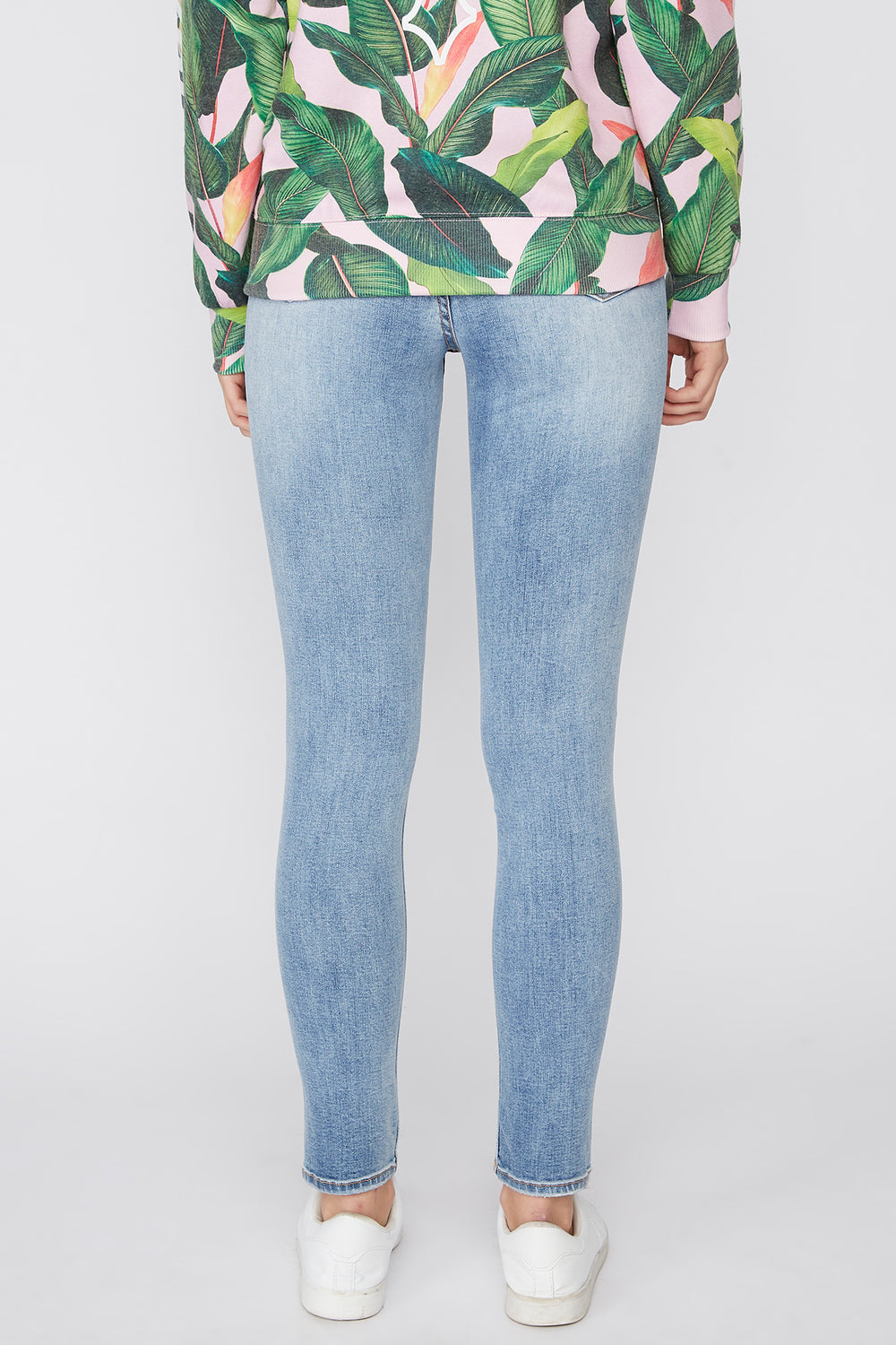 Zoo York Womens High Rise Jeans Medium Blue