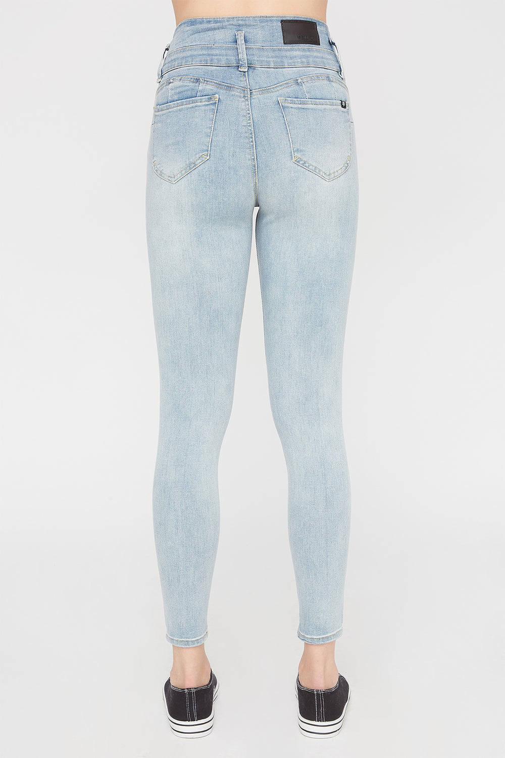 Zoo York Womens Light Wash 3-Tier Curvy Jeans Light Denim Blue