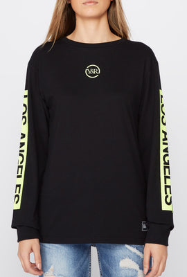 Chandail À Manches Longues Logo Fluo Young & Reckless Femme