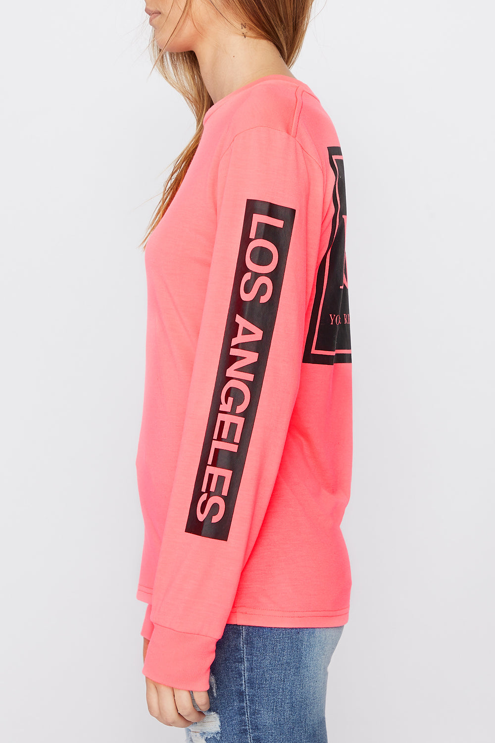Chandail À Manches Longues Logo Fluo Young & Reckless Femme Magenta