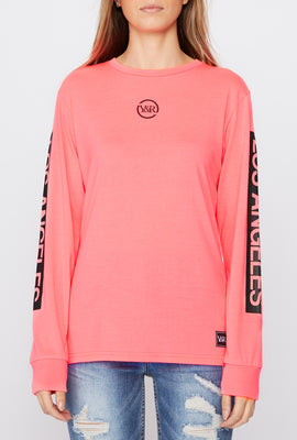 Young & Reckless Womens Neon Logo Long Sleeve Shirt