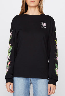 Zoo York Womens Tropical Logo Long Sleeve Shirt