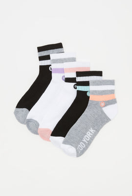 Zoo York Womens Ankle Socks (5 Pairs)