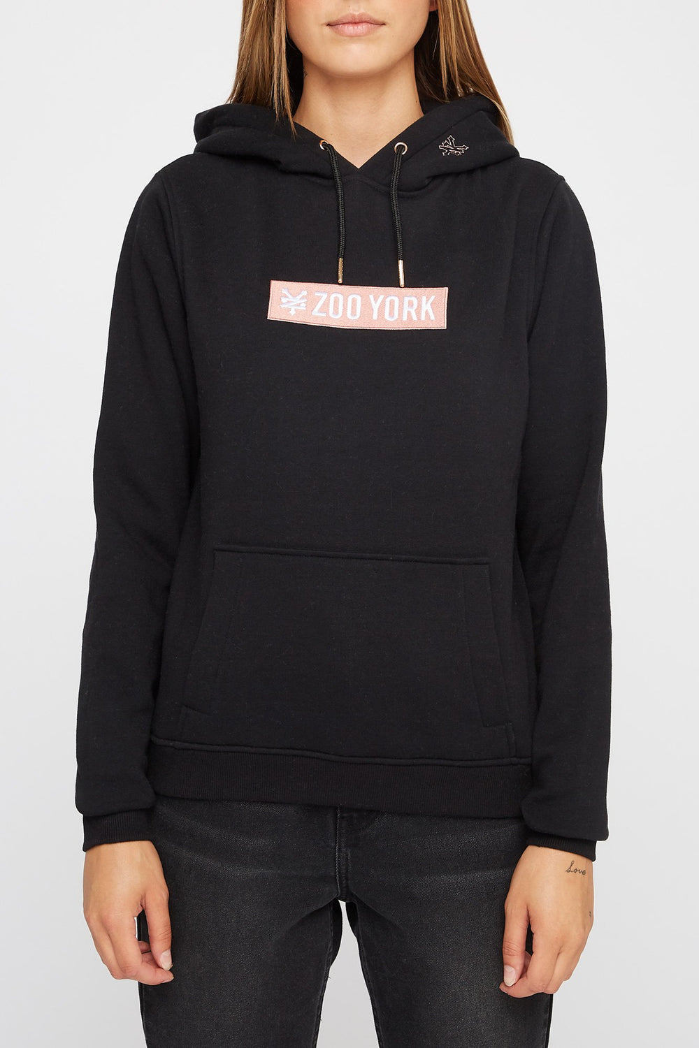 Zoo York Womens Box Logo Hoodie Black