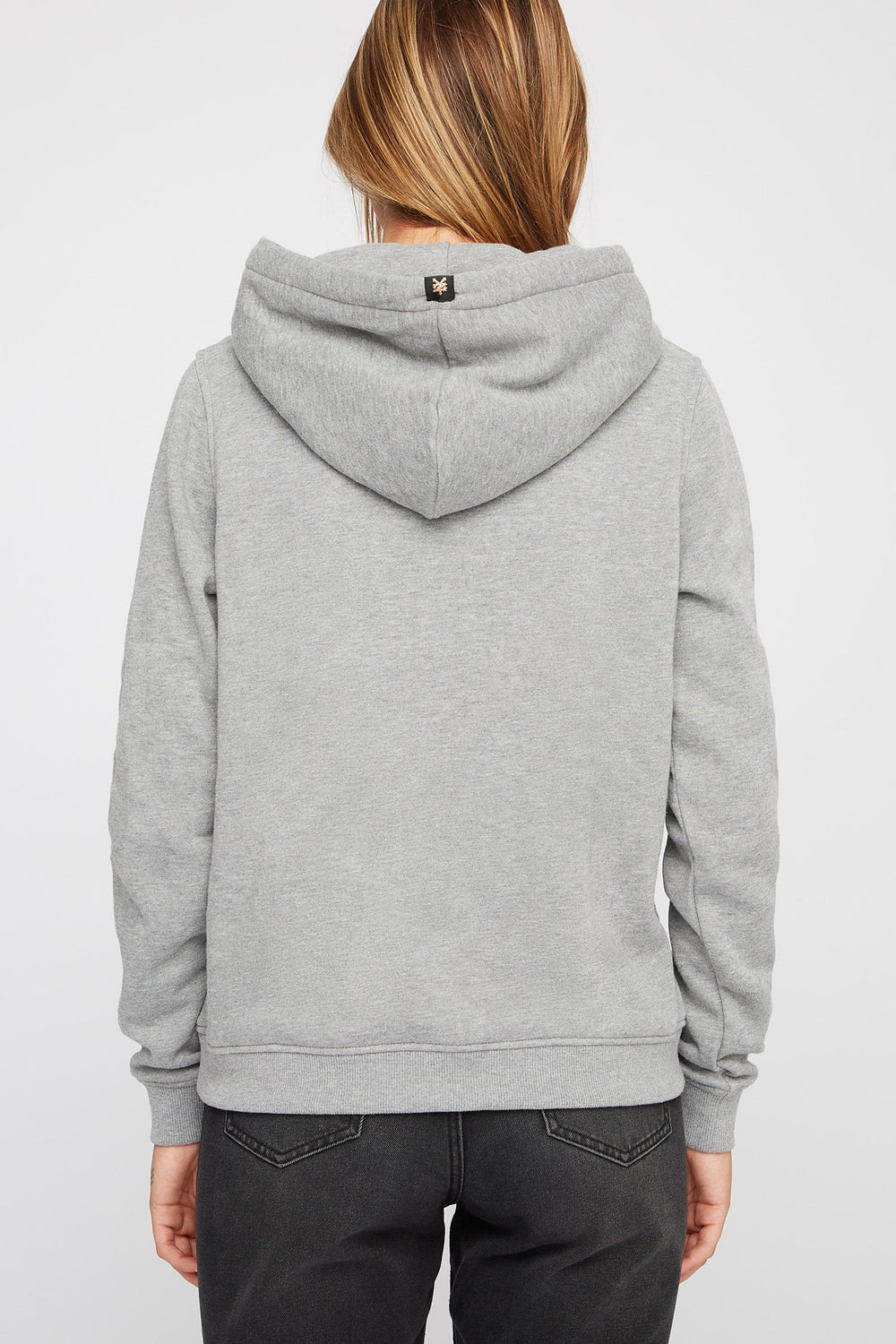 Zoo York Womens Box Logo Hoodie Heather Grey