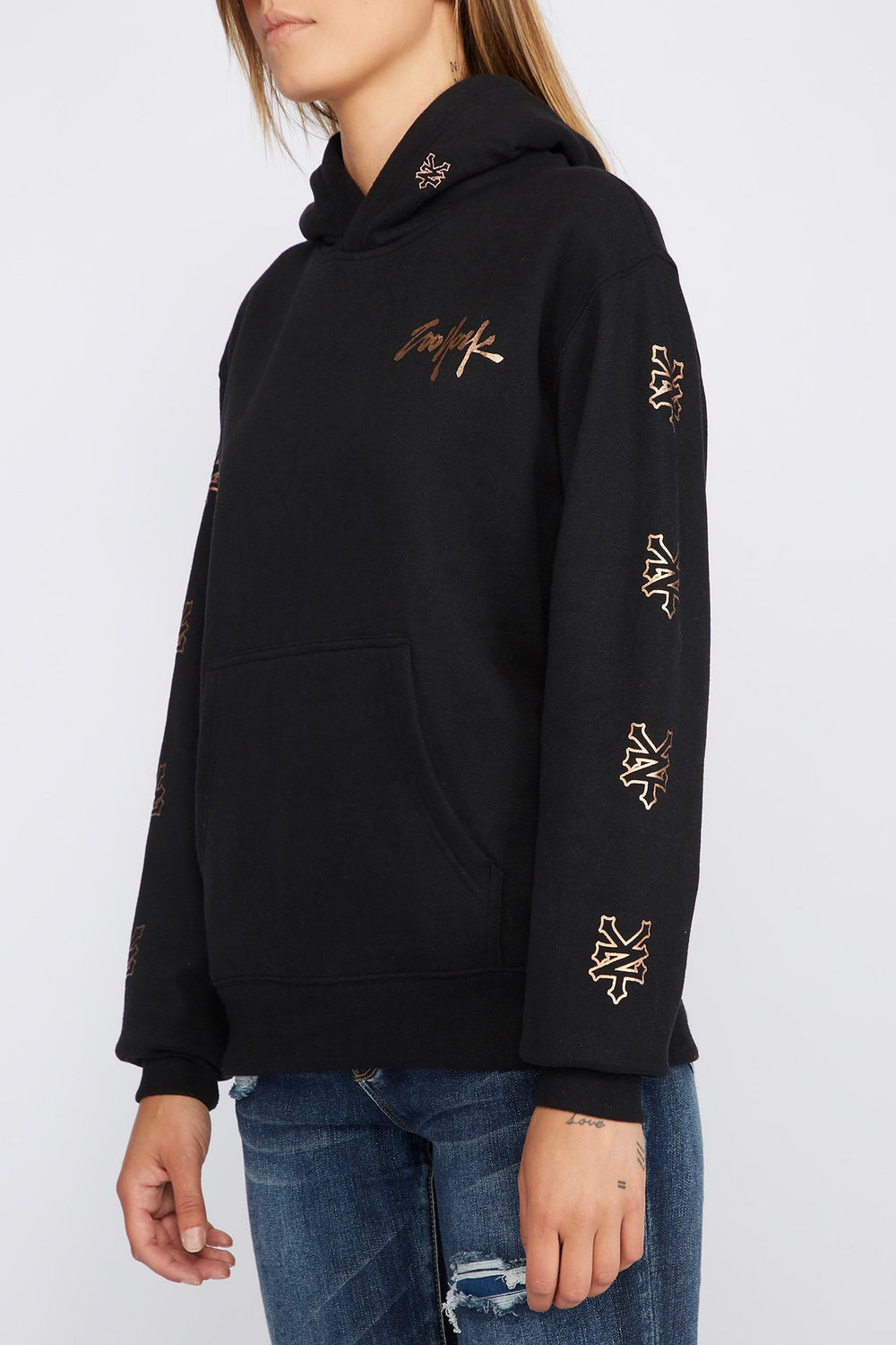 Zoo York Womens 5 NYC Boroughs Hoodie Black