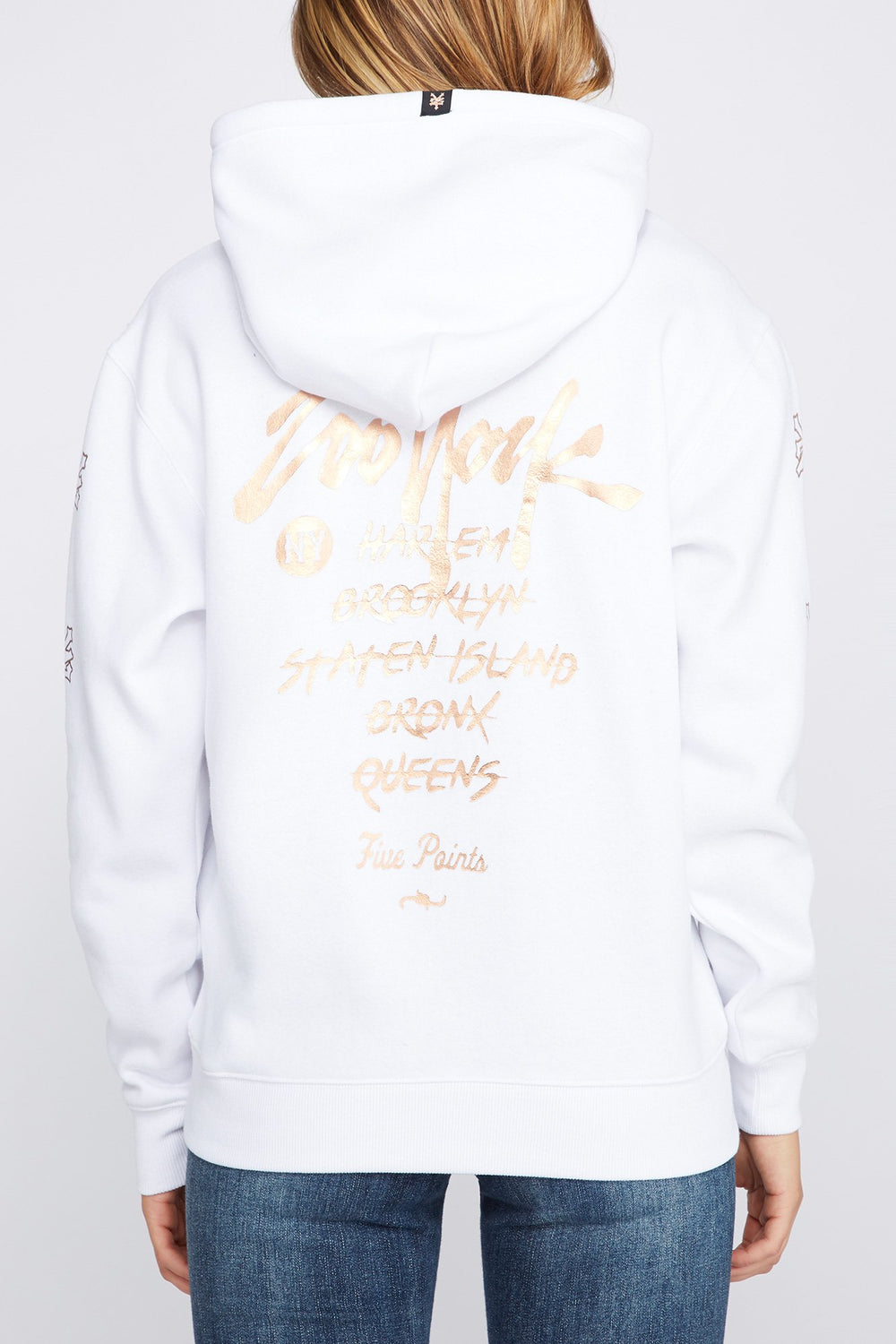 Zoo York Womens 5 NYC Boroughs Hoodie White