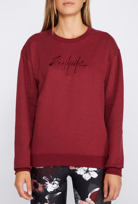 Zoo York Womens Embroidered Logo Sweatshirt