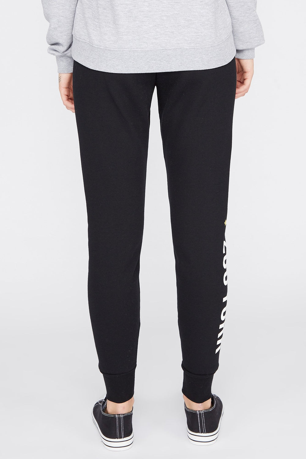 Zoo York Womens Fleece Joggers Black
