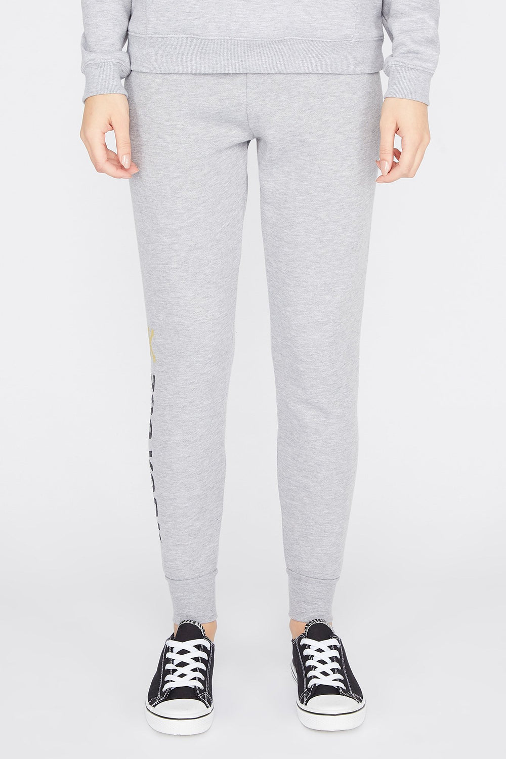 Zoo York Womens Fleece Joggers Heather Grey