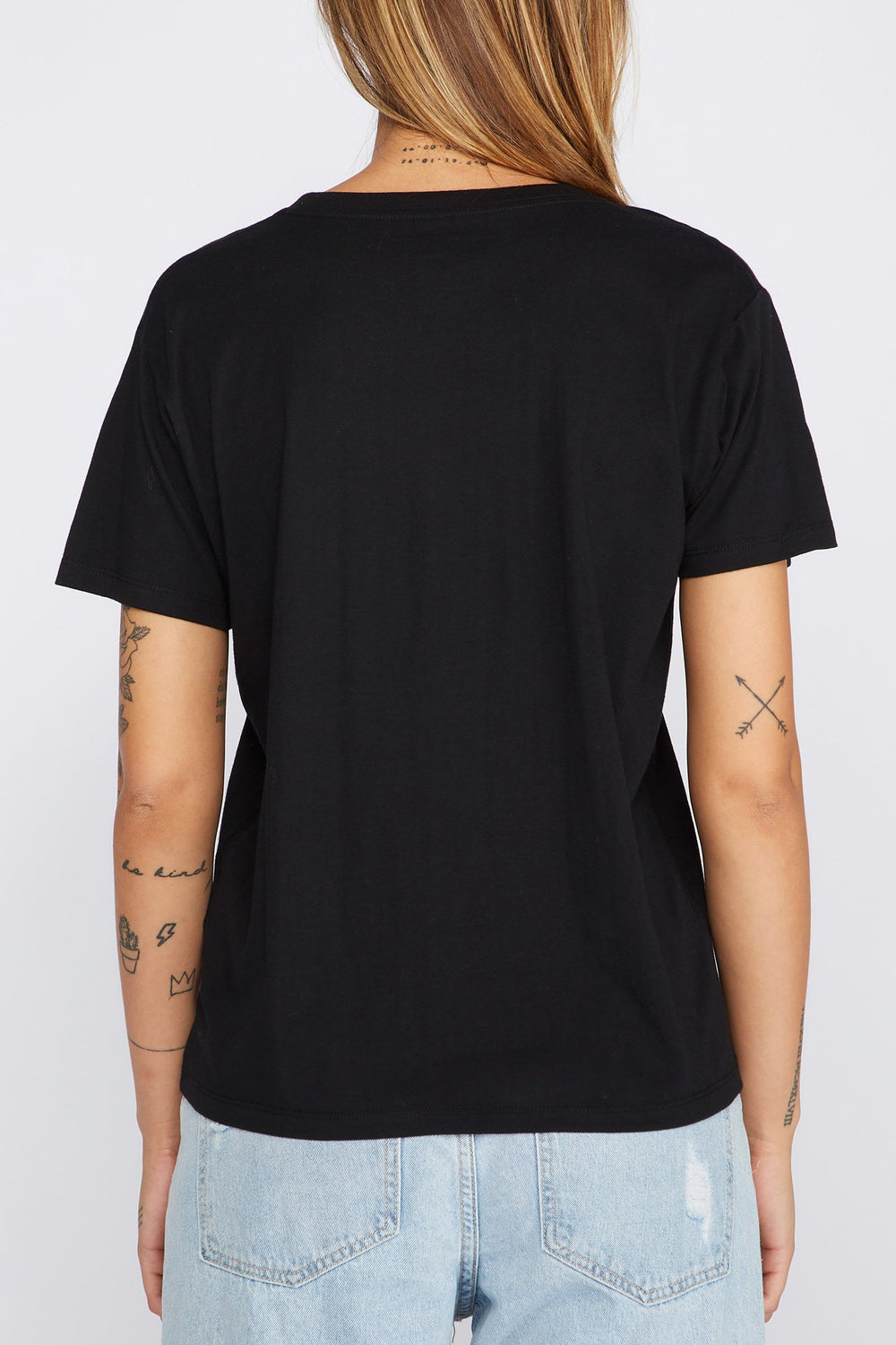 Zoo York Womens Rose Gold Logo T-Shirt Black