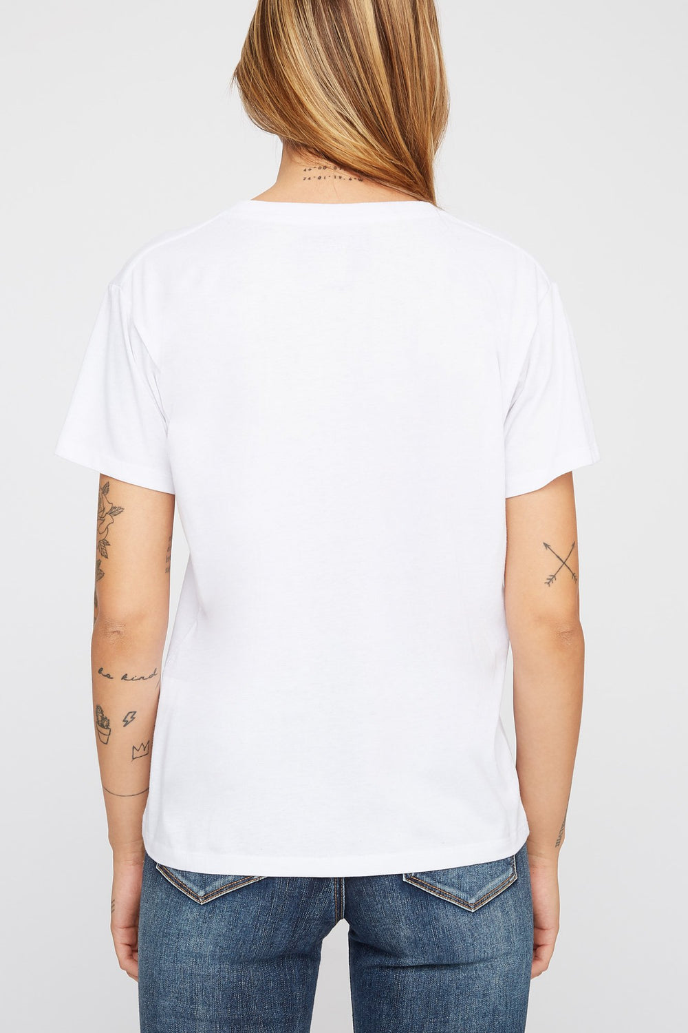 Zoo York Womens Printed Floral Logo T-Shirt White