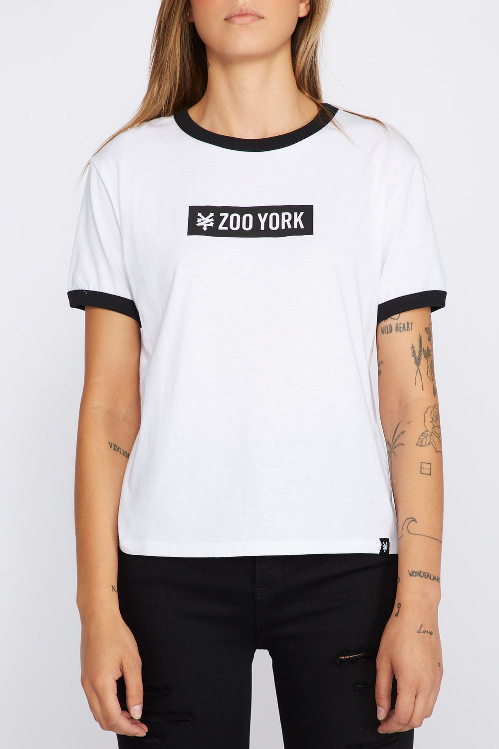 Zoo York Womens Logo T-Shirt Black