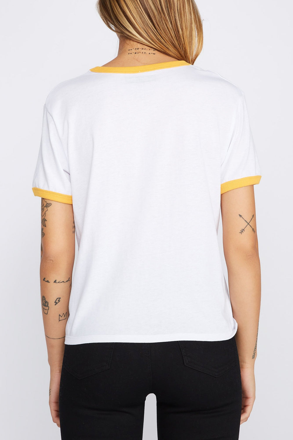 Zoo York Womens Logo T-Shirt Yellow