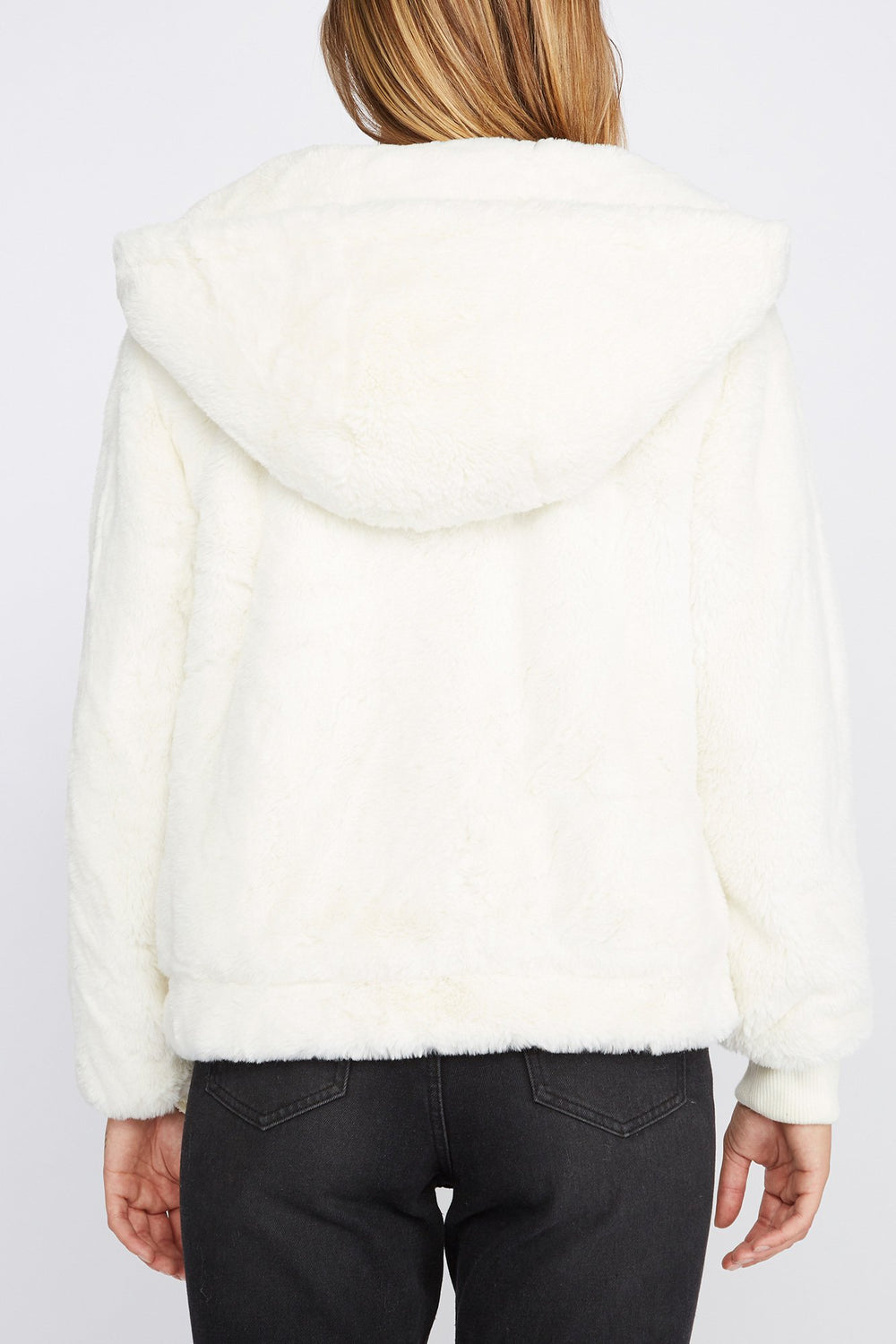Zoo York Womens Faux-Fur Coat White