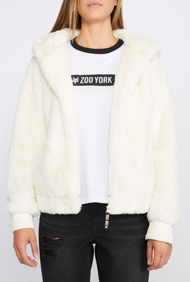 Zoo York Womens Faux-Fur Coat