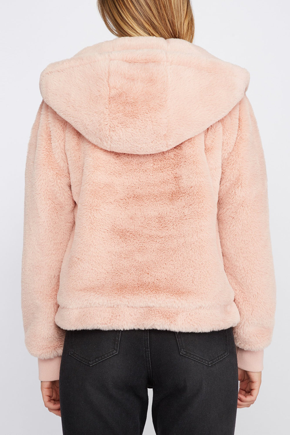 Zoo York Womens Faux-Fur Coat Dusty Rose