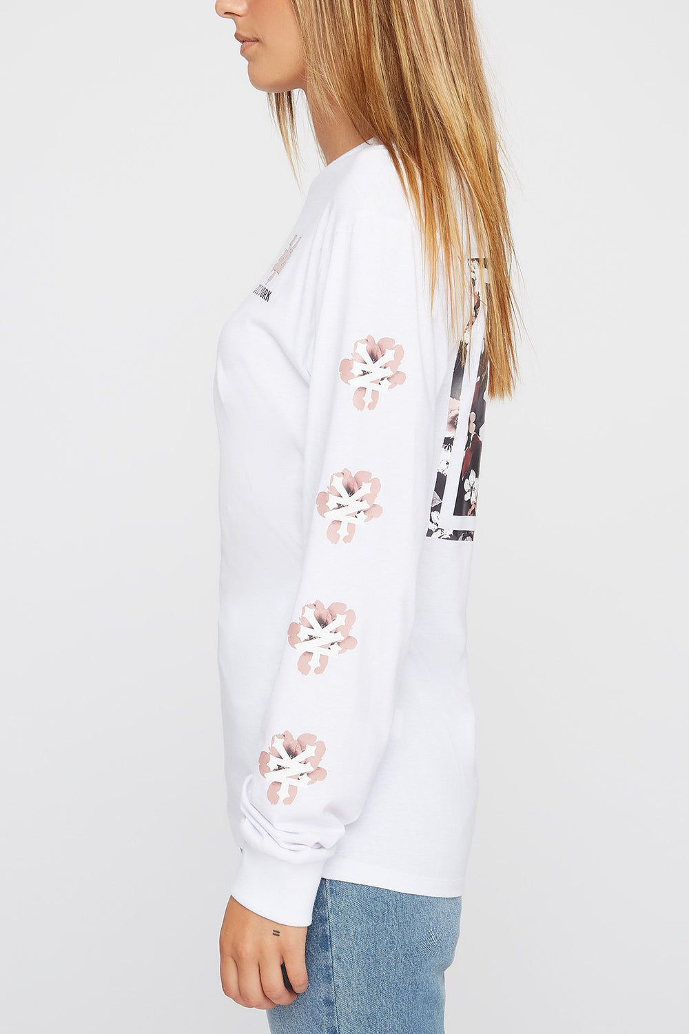 Zoo York Womens Floral Long Sleeve Shirt White