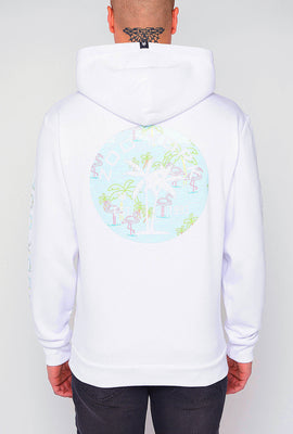 Zoo York Mens Neon Flamingo Fill Logo Hoodie