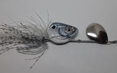 3/4 ounce Mouse with chrome blade - The Ugly Pike Bait Co.