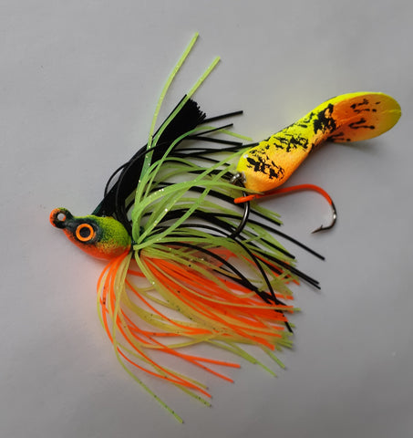 Waggerbait™ swim jig - Fire Tiger - The Ugly Pike Bait Co.