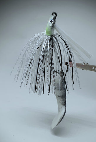 Smashed Head  Waggerbait™ swim jig - Silver Shad - The Ugly Pike Bait Co.