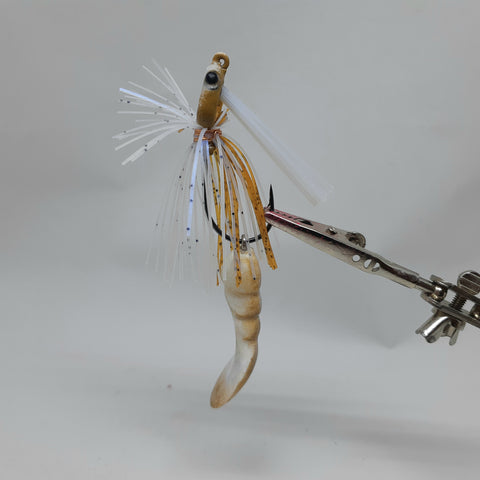 Smashed Head  Waggerbait™ swim jig -  - Shrimp - The Ugly Pike Bait Co.