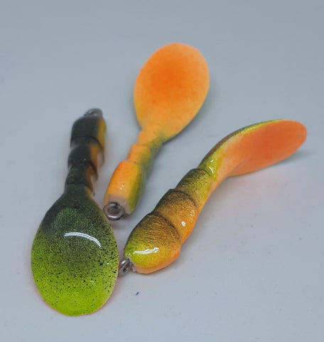 Waggerbait™ Craw Tails - Orange Craw - The Ugly Pike Bait Co.