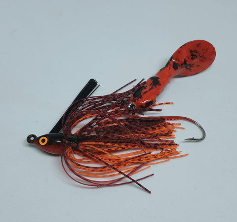 Waggerbait™ swim jig - ( what the fork )  WTF Red