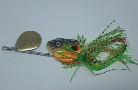 3/4 ounce Sunfish with gold glitter blade