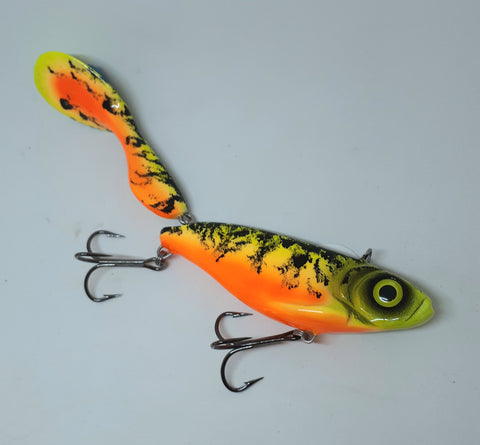 "9 3/4"" Waggerbait Swimmer - Fire Tiger"