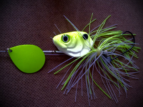 3/4 ounce Chartreuse / White with chartreuse blade - The Ugly Pike Bait Co.