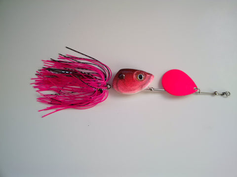 1/2 ounce Bubblegum - Pink blade - The Ugly Pike Bait Co.