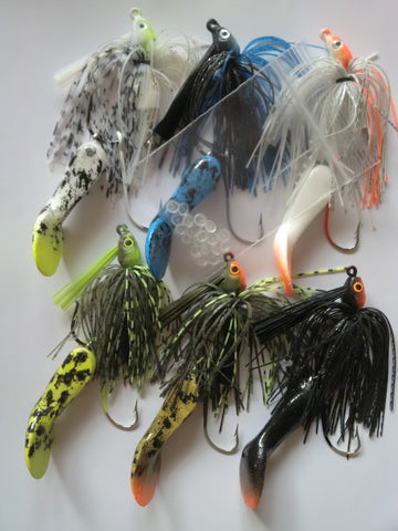 "4 1/4""  Waggerbait™ swim jig - 6 pack plus                (OUR BEST SELLER - SAVE 20% ) - The Ugly Pike Bait Co."